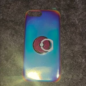 iPhone case holographic with phone stand/holder